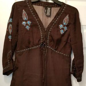 Chico's boho gypsy blouse size XS